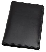 Обложка для паспорта с отделениями для кредитных карт Pluto, натуральная кожа Kentucky, черный