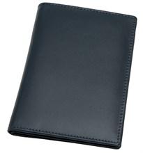 Обложка для паспорта с отделениями для кредитных карт Pluto, натуральная кожа, синий