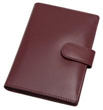 Бумажник водителя Voyager, натуральная кожа Brasile, бордовый