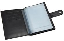 Бумажник водителя Voyager, натуральная кожа Venezia, черный