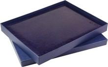 Коробка подарочная синяя еженедельник А4