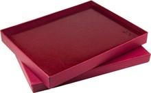 Коробка подарочная бордовая еженедельник А4