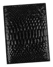 Бумажник водителя Triumf натуральная кожа отделка Croco черный