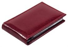 Визитница карманная 36 визиток  Rich бордовый