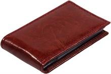 Визитница карманная 36 визиток Rich коричневый