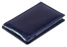 Визитница карманная 36 визиток Rich синий темный