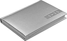 Ежедневник датированный на 2019 год А5 Liga серебряный, серебряный обрез