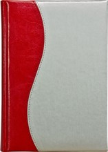 Ежедневник датированный А5 Liga/Rich серебряно-красный