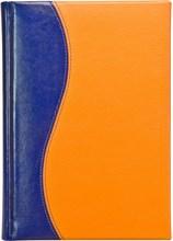 Ежедневник датированный А5 Rich оранжево-синий