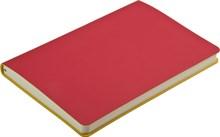 Ежедневник недатированный А5 Touch красный/желтый в гибкой обложке