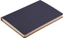 Ежедневник недатированный А5 Touch синий темный/оранжевый в гибкой обложке