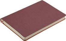 Ежедневник недатированный А5 Touch бордовый/оранжевый в гибкой обложке