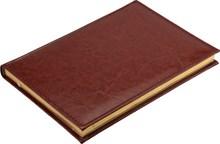 Ежедневник недатированный А5 Rich коричневый, золотой обрез