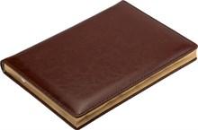 Ежедневник недатированный А5 Malaga коричневый, золотой обрез