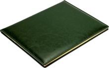 Еженедельник датированный на 2021 год А4 Malaga зеленый, золотой обрез