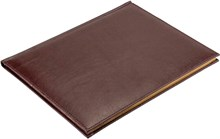 Еженедельник датированный на 2021 год А4 Premium коричневый темный золотой обрез
