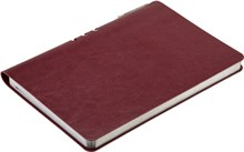 Блокнот недатированный А5 с ручкой Rich бордовый