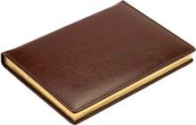 Ежедневник датированный на 2020 год А5 Malaga коричневый золотой обрез