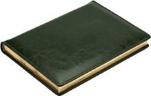 Ежедневник датированный на 2020 год А5 Malaga зеленый золотой обрез