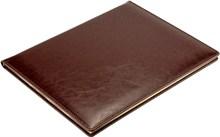 Еженедельник датированный на 2021 год А4 Malaga коричневый, золотой обрез