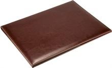 Папка адресная А4 Malaga из натуральной кожи коричневый